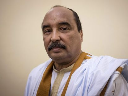 Mohamed Ould Abdelaziz en noviembre de 2018 durante el Festival de Ciudades Antiguas celebrado en Oualata.