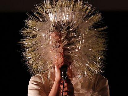 Björk, durante una actuación en Nueva York el pasado marzo.