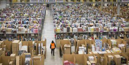 La planta logística de Amazon en San fernando de Henares (Madrid).