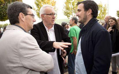 Lara y Garzón en la Asamblea de Izquierda Unida en Rivas en noviembre