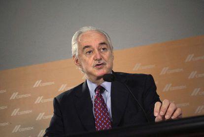 Lorenzo Zambrano, en una conferencia en Monterrey en febrero.