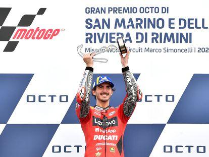 Pecco Bagnaia, ganador del GP de San Marino, en el circuito de Misano Marco Simoncelli.