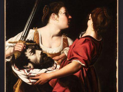 'Judit y su sirvienta con la cabeza de Holofernes (c. 1605-1612)', Orazio Gentileschi. Óleo sobre lienzo. Donación Óscar Alzaga.