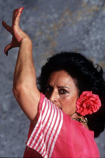 La artista, en 1994, el año en el que recibió la Medalla de Oro al Mérito en el Trabajo.