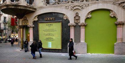 La casa Lleó i Morera, de Lluís Domènech i Montaner, situada en el Paseo de Grácia de Barcelona.