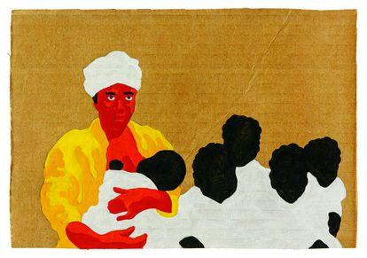 Retrato de Rosa, una esclava que huyó en 1870 de una hacienda con sus cinco hijos.