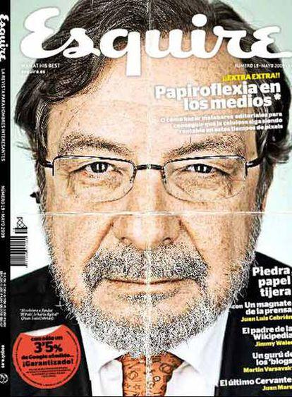 Portada de la revista 'Esquire' dedicada a Juan Luis Cebrián