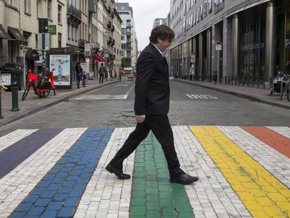 Carles Puigdemont, en Bruselas, en una imagen de archivo.