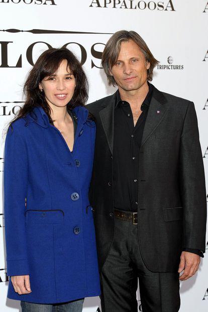 Ariadna Gil y Viggo Mortensen, en 2008, en Madrid.
