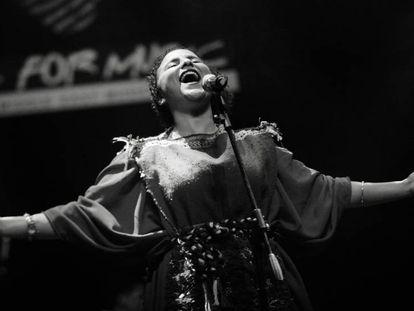 La cantante Soukaina Fahsi.