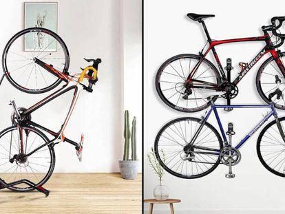 Una selección de productos para almacenar con seguridad y de forma ordenada las bicicletas.