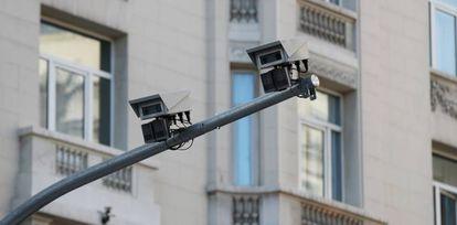Cámaras de vigilancia de Madrid Central.
