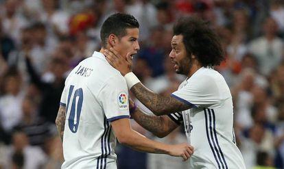 Marcelo habla con James.
