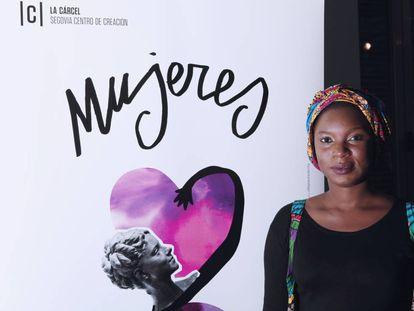 La activista gambiana Isatou Jeng en el VIII Encuentro Mujeres que transforman el mundo, que se celebró en Segovia del 16 al 25 de marzo.