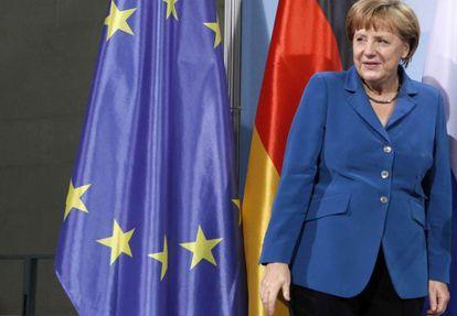 Angela Merkel, ayer en Berlín