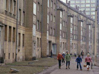 Barrio en la ciudad alemana de Leipzig, 1985.