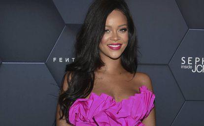Rihanna, en la fiesta de aniversario de su firma Fenty Beauty en Nueva York, el pasado septiembre.