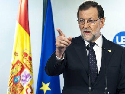 Mariano Rajoy, tras el Consejo Europeo.