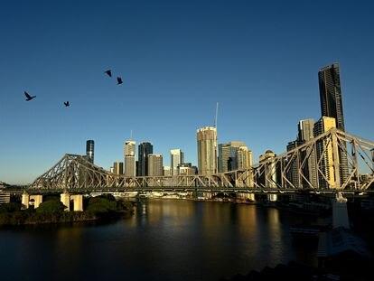 Vista de la ciudad australiana de Brisbane.