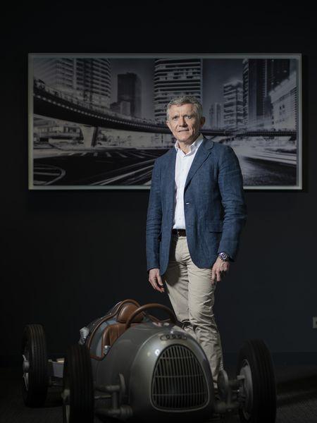 Francisco Pérez Botello, presidente de Volkswagen, el pasado jueves la sede del grupo.