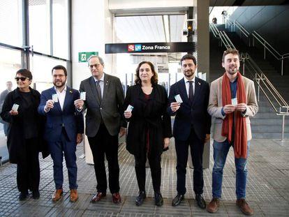 Inauguración de la estación de la Zona Franca de la L10 sur del metro.