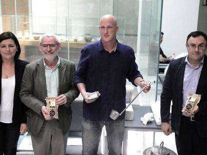 Andoni Monforte, segundo por la derecha, creador de Món Orxata.
