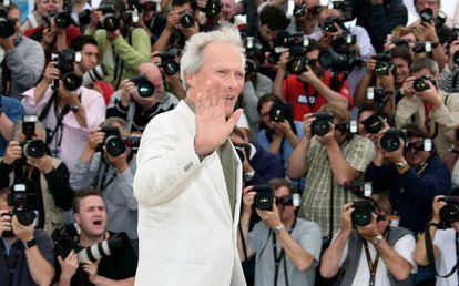 El actor y director Clint Eastwood en el Festival de Cannes en 2008.