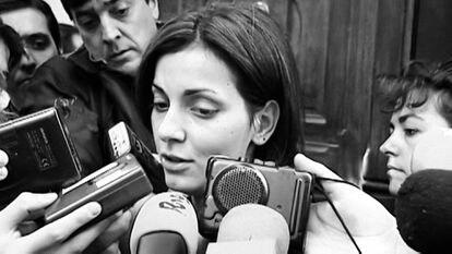 Nevenka Fernández en un fotograma del documental de Netflix sobre su caso.