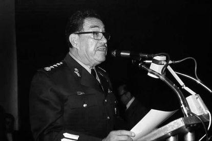 El general Hermenegildo Cuenca Díaz durante un informe.