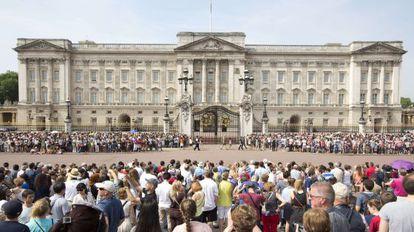 El palacio de Buckingham.