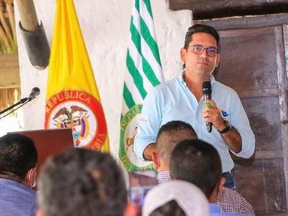 El gobernador del Meta, Juan Guillermo Zuluaga, en una imagen de sus redes sociales en diciembre de 2020.