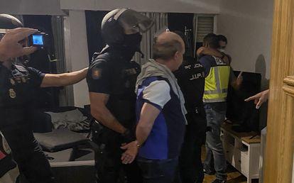 Momento de la detención de Hugo Carvajal.
