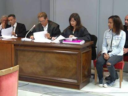 Ana Julia Quezada, este jueves durante la lectura del veredicto. En vídeo, el veredicto.