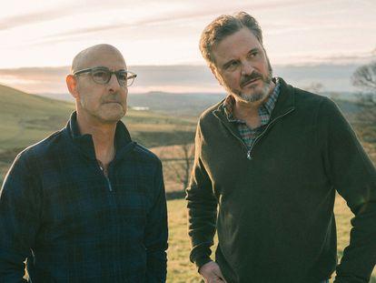 Stanley Tucci y Colin Firth, en 'Supernova'.