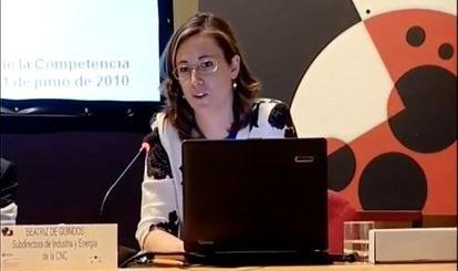 Beatriz de Guindos, en una imagen de un vídeo de Youtube.