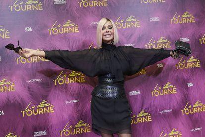 Bibiana Fernandez, en el estreno del musical 'La última tourné', el pasado octubre.