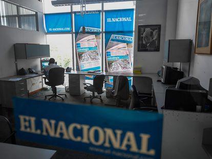 Una imagen de julio de 2019 de las instalaciones del diario 'El Nacional', en Caracas, Venezuela.