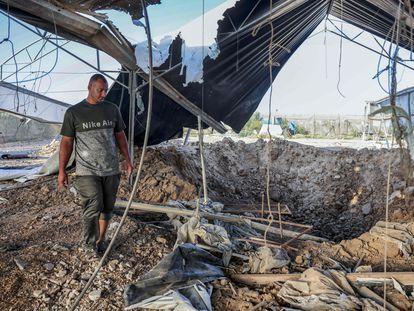 Daños causados por un bombardeo israelí, el domingo en Rafah, al sur de la franja de Gaza.