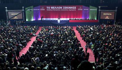 Tsipras, presenta su programa este sábado en Atenas.