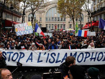 Manifestación contra la discriminación de los musulmanes, en noviembre de 2019 en París.