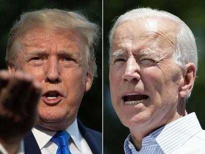 Donald Trump (izquierda) y Joe Biden.