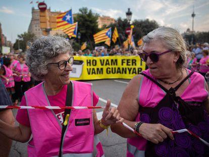 Una de las manifestaciones organizadas por la ANC en Barcelona.