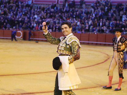 Pablo Aguado, en la Maestranza de Sevilla.