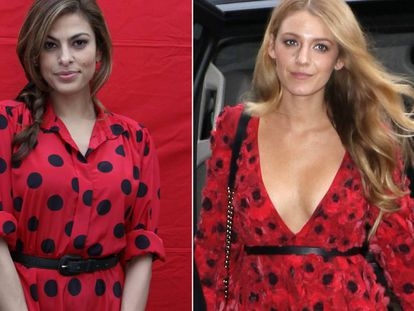 Las actrices Eva Mendes y Blake Lively.