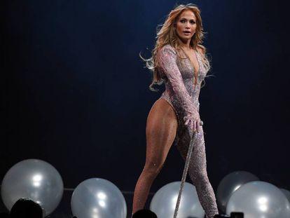 Jennifer Lopez durante una actuación en Las Vegas el 15 de junio de 2019.