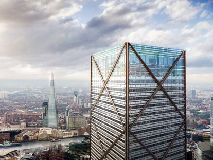 Imagen de cómo será el edificio 1 Undershaft, en Londres.