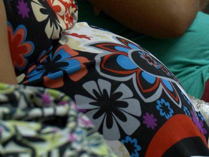 Jóvenes embarazadas en una maternidad brasileña.