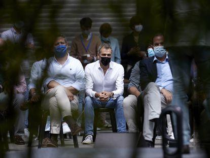 Toni Cantó, durante la clausura de la Escuela de Verano Miguel Ángel Blanco, el pasado 11 de julio de 2021, en Ermua.