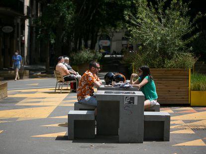 La supermanzana implantada en el barrio de Sant Antoni, de Barcelona, ciudad donde hay varios proyectos en marcha.