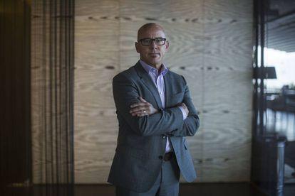 Blake Irving, director ejecutivo de GoDaddy, en la Ciudad de México.